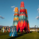 Image for the Tweet beginning: See Coachella's massive new art