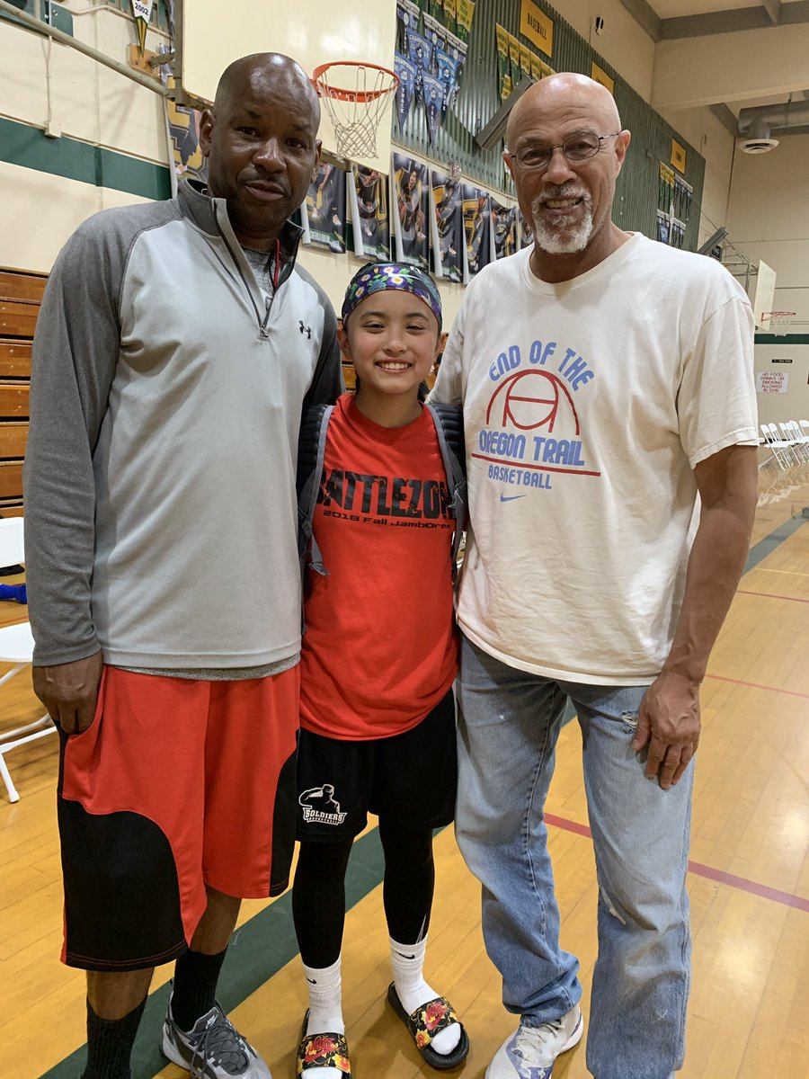 Never forget your roots. Former mentors Coach Bass and Coach Miller of #FirstStepBasketball #FSB #BALLISLIFE  – at Vanden High School