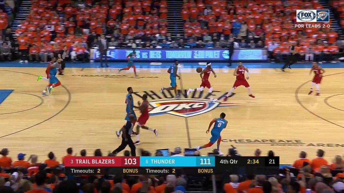 MAKE IT 30, RUSS.  #ThunderUp | #NBAPlayoffs