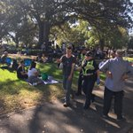 What perfect weather for  #420day to peacefully support cannabis law reform in #Melbourne #flagstaffgardens despite this there are over 20 police searching and arresting #prohibitionhurtsgoodpeople