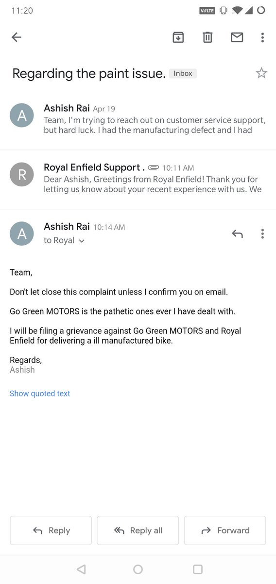 test Twitter Media - @ravinesun @Anand_tailor @royalenfield This company and their proprietors all are bogus. Now I will file a grievance in consumer court to claim my amount. You can keep the bike with you. They are not able to assist in anything. Several complaints done. But hard luck. Tell me what you do if there is a manufacturing def https://t.co/XFjebwFpYi