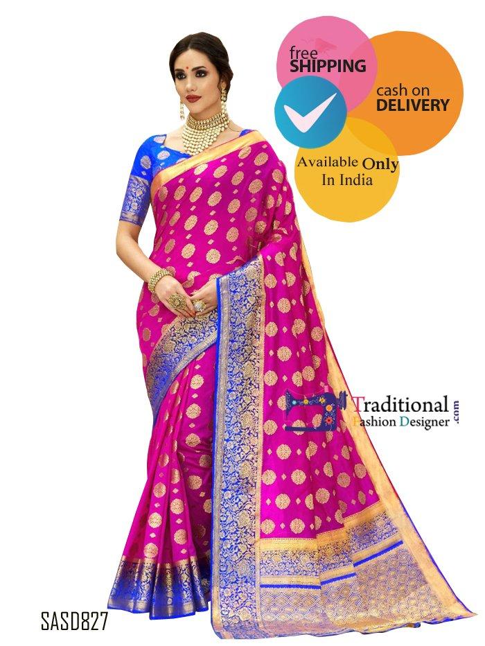 Traditional Heavy Silk Saree. #Bollywood #Actress #Saree #Partywear #Traditionalwear #Fashion #Designewear #Wedding #BridalWear #Stylish #Indianlook