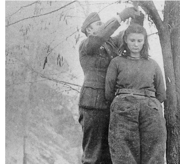 Lepa Radić, 17-year-old Yugoslav partisan who was sentenced to death for shooting at Nazis. When she was offered a way out of the gallows if she revealed the names of her comrades, she declined, saying they'd reveal themselves when they came to avenge her death.