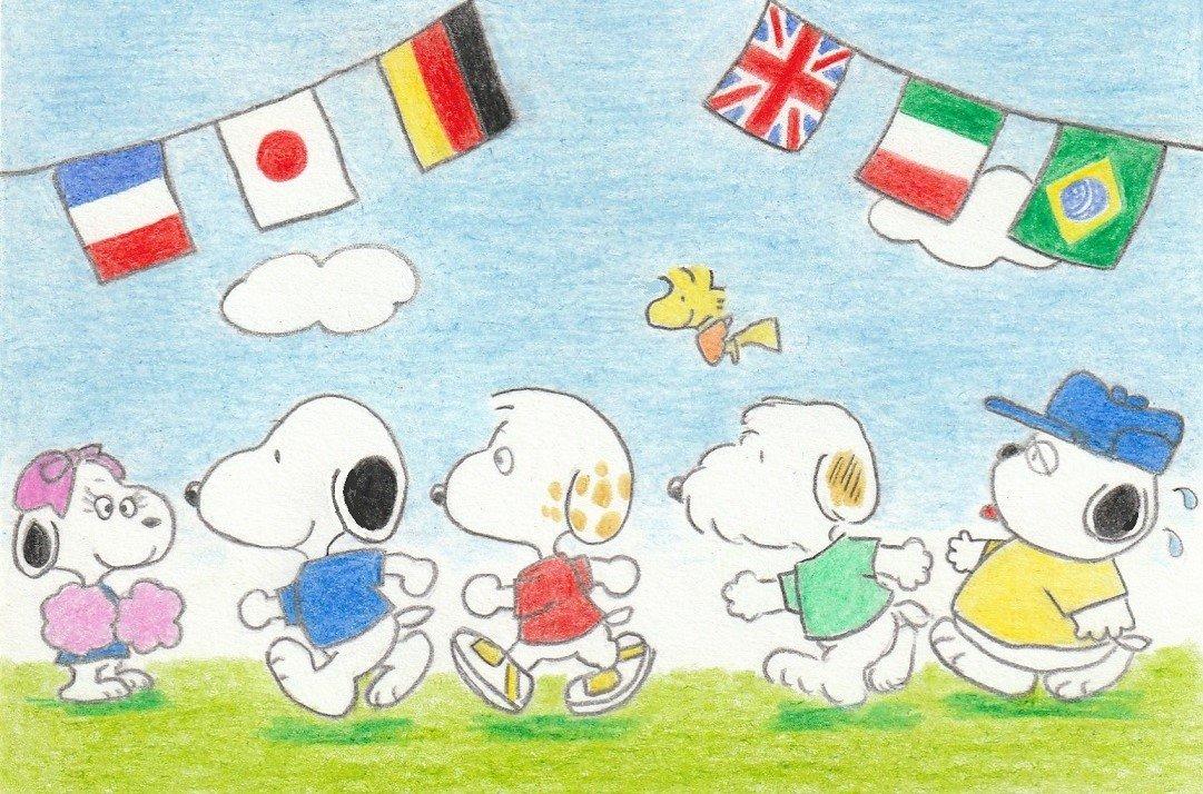 Sima On Twitter イラスト スヌーピー Illustration Snoopy 運動会