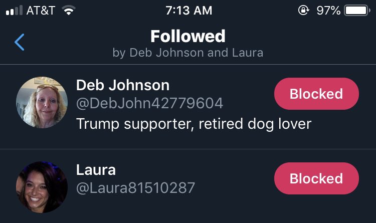 Well I must be doing something right when the boys start following me. #Resist #BlueWave2020 <br>http://pic.twitter.com/Ov0RVgusfl