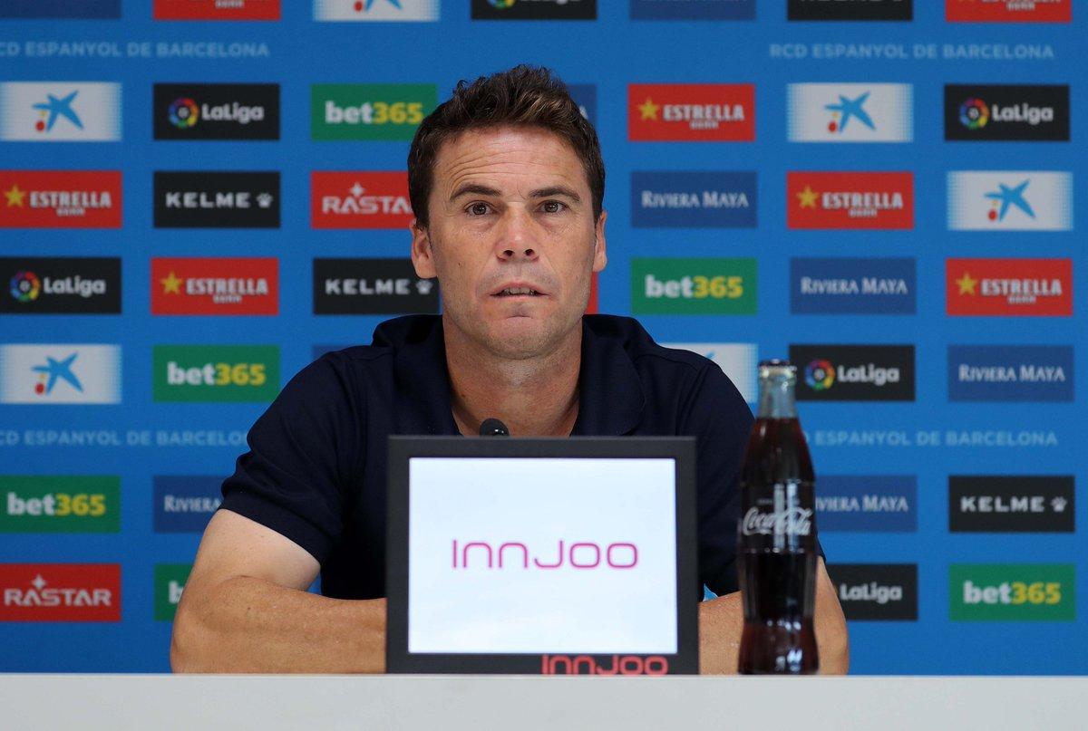 Rubi, durante la rueda de prensa (Vía Espanyol).