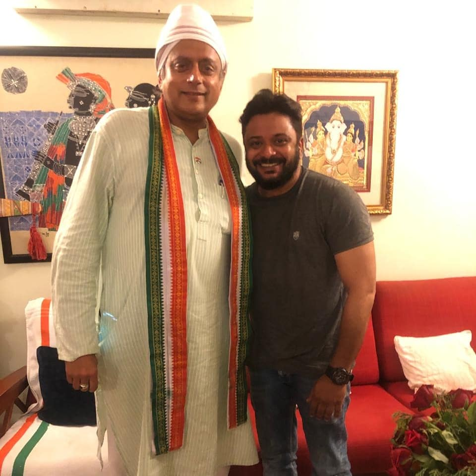 Mr.@ShashiTharoor  was just the way I thought impeccable knowledge with a lot of humbelness and an absolutely down to earth persona.I hope he recovers soon and also wish him all the very best for his #2019LokSabhaElections may the force be with Sir...