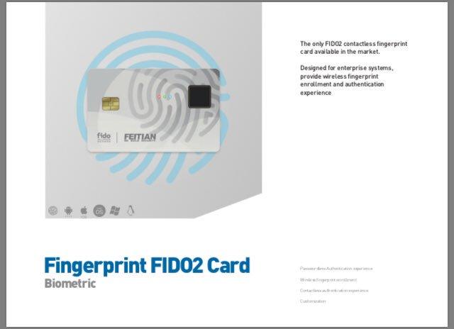 Fetians new(?) Fido2 biometric card  with @IDEXBiometrics fps! <br>http://pic.twitter.com/yUOAHFyb1d