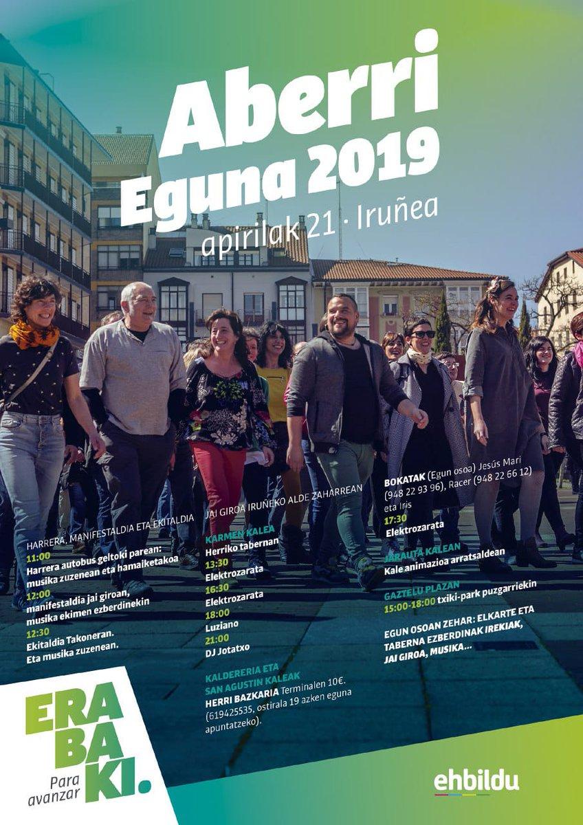 BIHAR igandea, #AberriEguna2019 - Iruñea  #AurreraEgin #AurreEgin #Erabaki #ParaAvanzar