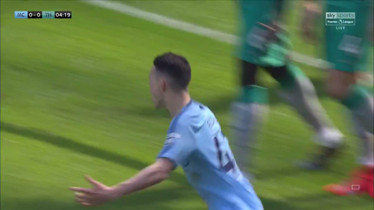 Congratulations to Phil Foden for scoring his first ever Premier League goal! 🎉