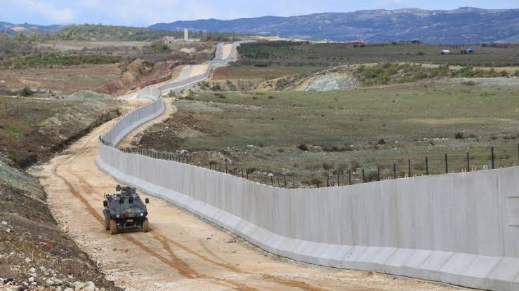 There is a cement wall being constructed by the Turkish government around Olive branch territory. This is a clear sign of the consolidation of the annexation of Afrin by Turkey. There is already a 900km cement wall that runs along southern border, separating Syria from Turkey.