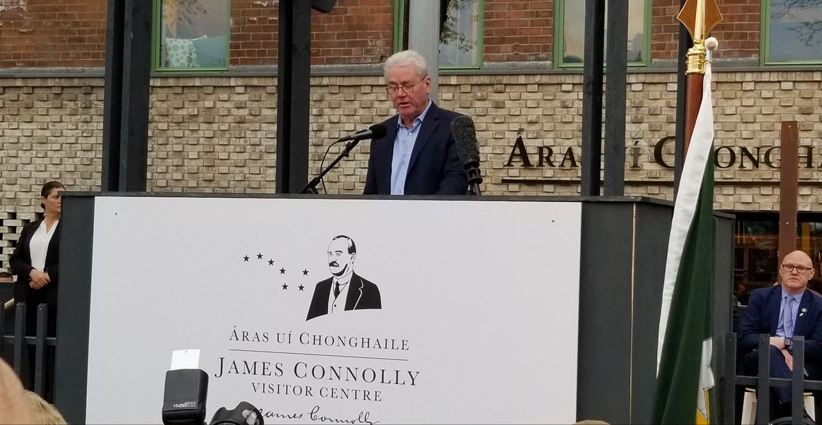 LIUNA General President, Terry O'Sullivan fires up the crowd at the grand opening of the James Connolly center in Belfast. Great program for an important causes - the cause of Labor is the cause of Ireland and the cause of Ireland is the cause of Labor @ConnollyLabor