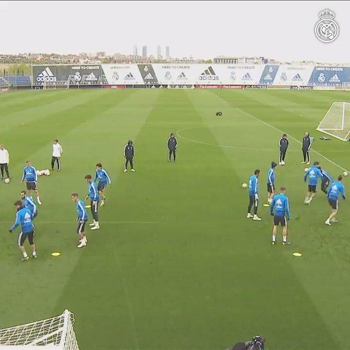 📽⚽ ¡Ya está en marcha nuestro entrenamiento previo al partido contra el AthleticClub! #RMCity
