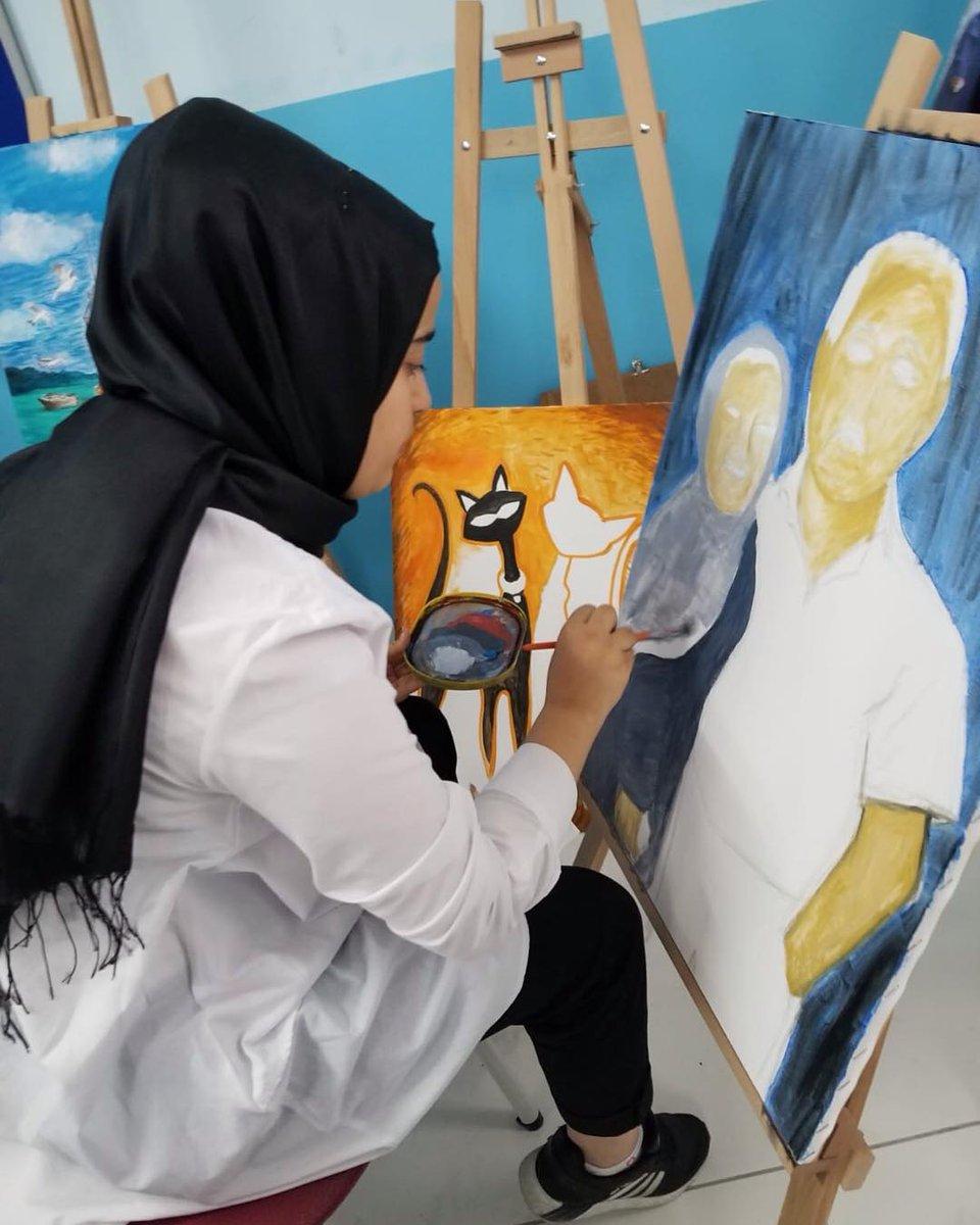 Okulumuzda 2018-2019 Eğitim Öğretim yılında açılan Resim ve Müzik Atölyesinde Görsel Sanatlar ve Müzik dersleri yürütülmektedir. #özeleğitim #görselsanatlar #resim