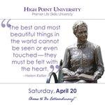 [CALENDAR] #DailyMotivation from Helen Keller. #HPU365