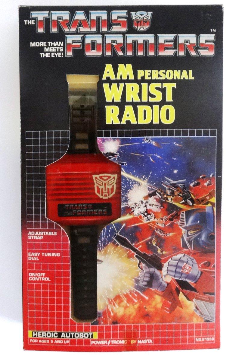 Heroic Autobot, AM personal wrist radio. Power Tronic by Nasta, 1985 #transformers #g1transformers #radio