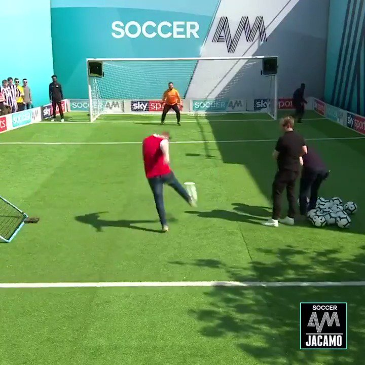 Arsenal fans take on the volley challenge! 🚀  Will they bring pride or shame on North London? 🤔