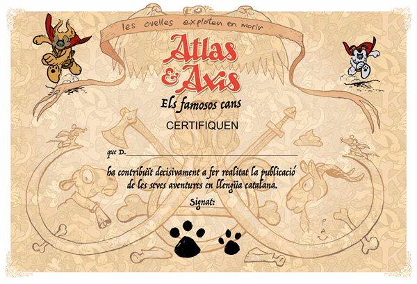 Sabem el que necessites: necessites aquest diploma per haver contribuït a fer realitat La Saga d'Atlas & Axis en català! El tendràs a http://vkm.is/atlasaxis  @comicat @Tuguicomiquer @tv3enlluita #comicsencatala @verkamiCAT @324cat @CatalunyaRadio