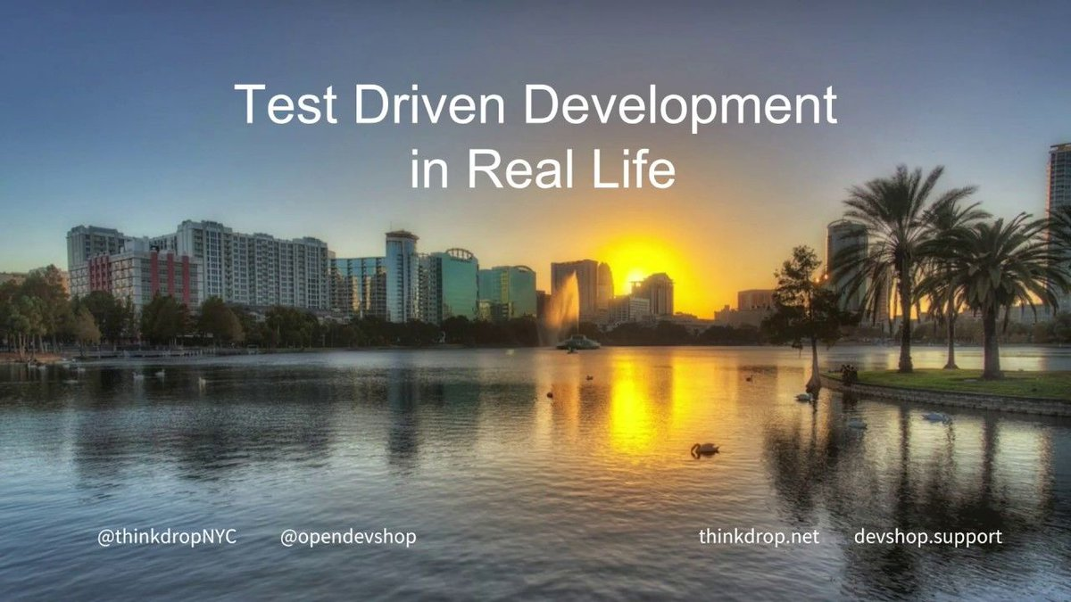 Watch the video from #fldc19 on Test Driven Development in Real Life
