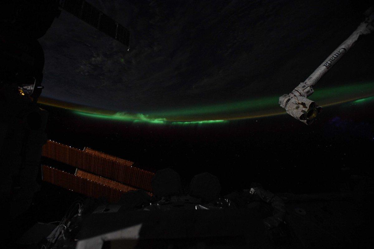 Gorgeous auroras over Antarctica. // Superbe aurore au-dessus de l'Antarctique. #DareToExplore #ExploringEarth #EarthObservation #OsezExplorer #ExplorerlaTerre #ObservationdelaTerre