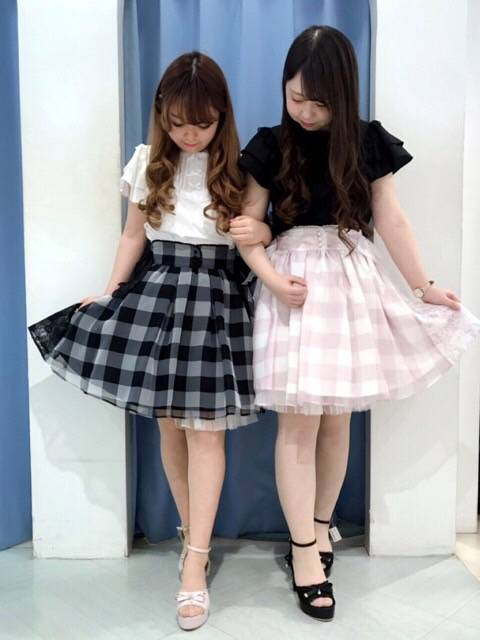 mille fille closet♡ギンガムチェックスカート♡ http://snap.hana-bi.jp/front/detail/id/79221…
