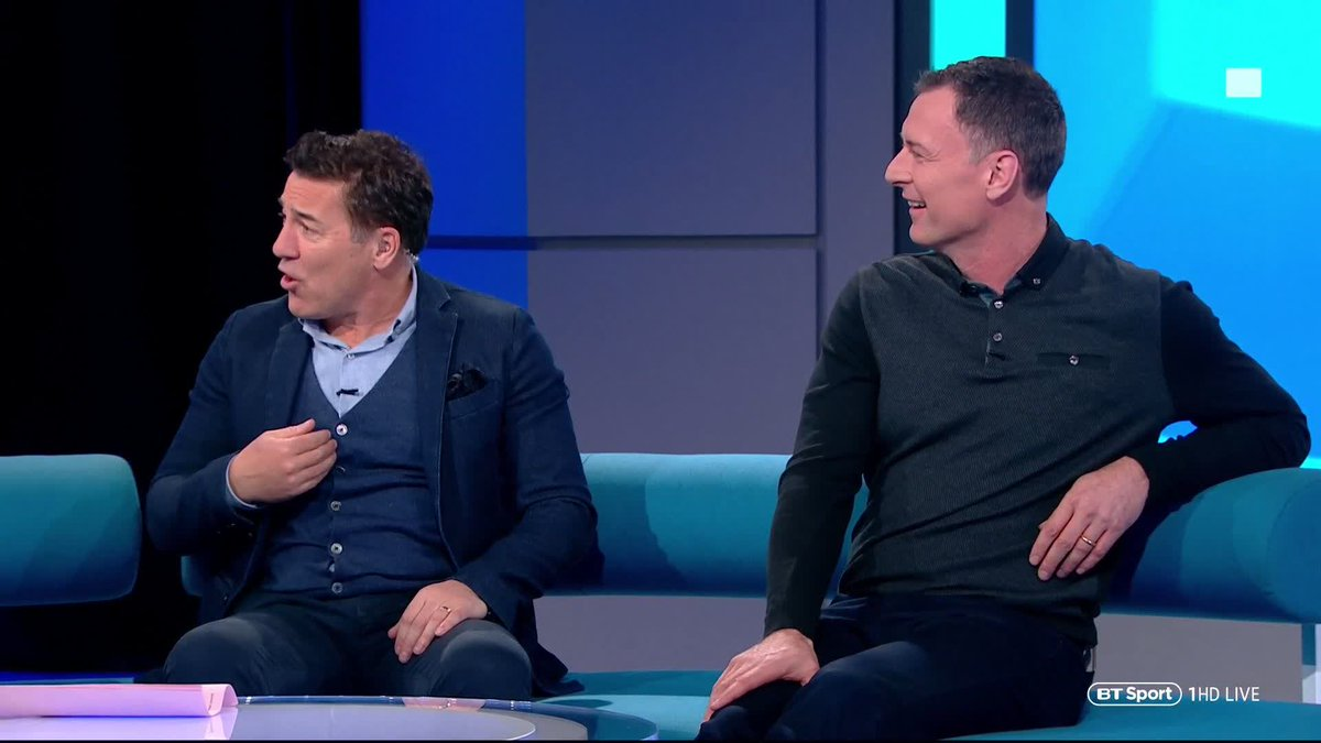 """Salah 🆚 Aubameyang  """"It's my favourite goal of the season. Aubameyang is a multi-millionaire and he's still running those down.""""  For Dean Saunders there's only one winner.  #SaturdaySav"""