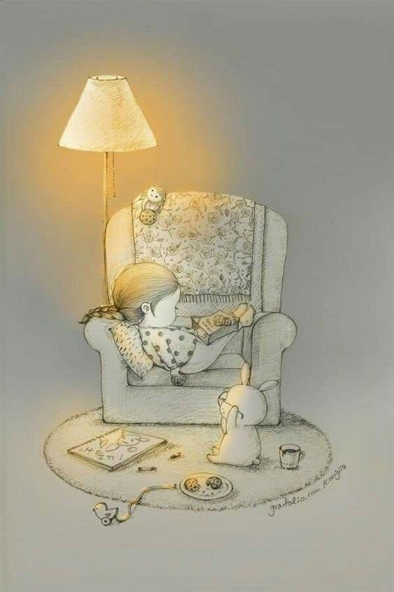 On vous laisse, on a une #NuitLecture en perspective !  Illustration Coniglio : https://bit.ly/2VbHAkG #JoyeusesPaques #lapin #rabbit