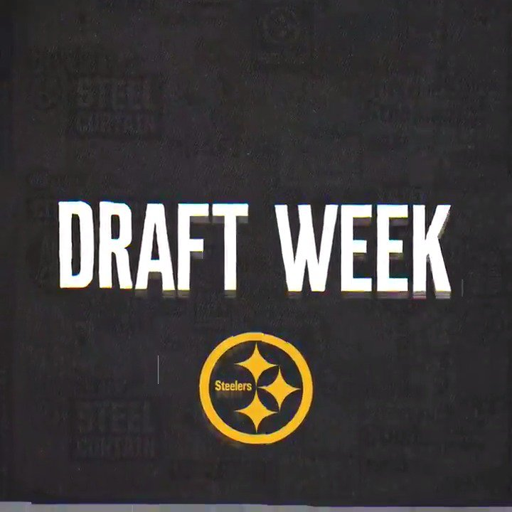 RT @steelers: It's finally here. 🙌  #SteelersDraft | #HereWeGo https://t.co/WMeZcFp5jA