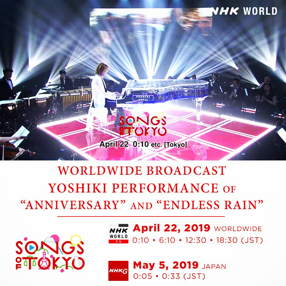 Yoshiki's photo on #SONGSOFTOKYO