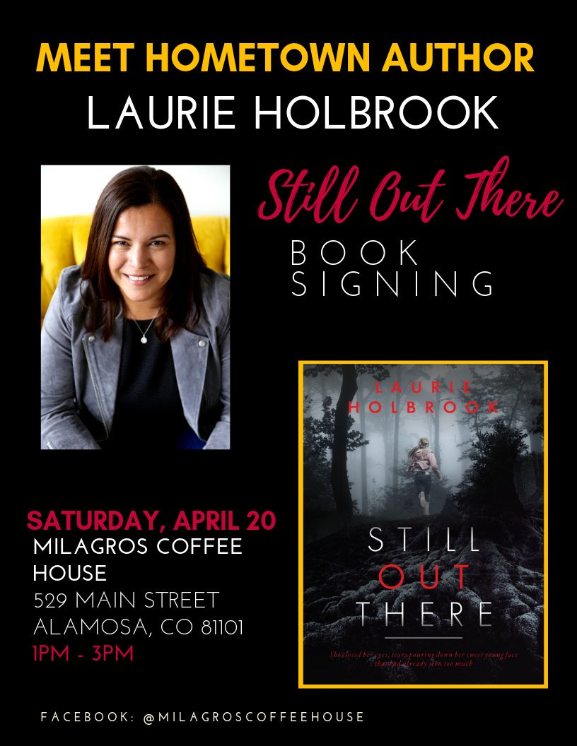 #WritingCommunity  Wish me luck. Today is my hometown book signing and I'm a little nervous. I have no idea how it'll turn out, and I'm worried I'll be sitting alone twiddling my thumbs 😱.   Send good vibes!