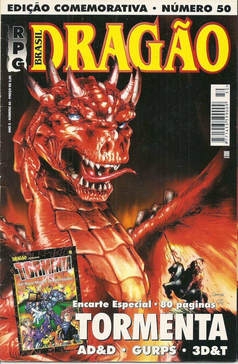 Revista dragão Brasil com a primeira edição de Tormenta.