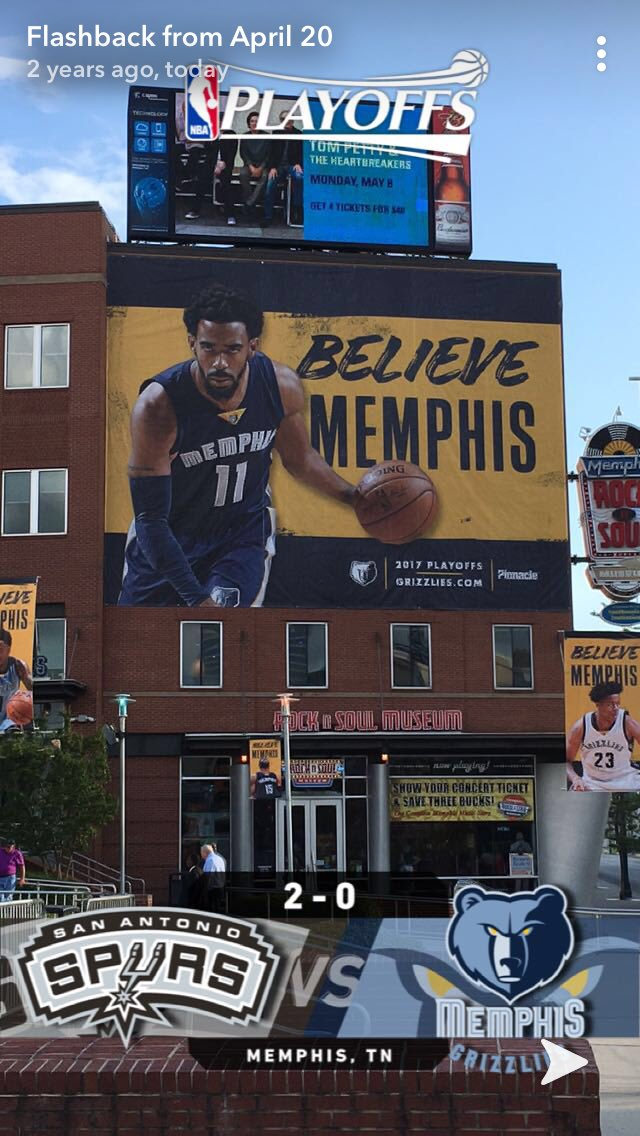 Snapchat bringing back the memories this morning @mconley11 @memgrizz #GrindCity #BelieveMemphis