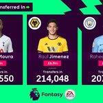 Moura - 2 points Jimenez - ❓ Sterling - 2 points  Your chance to shine, @Raul_Jimenez9!   #FPL