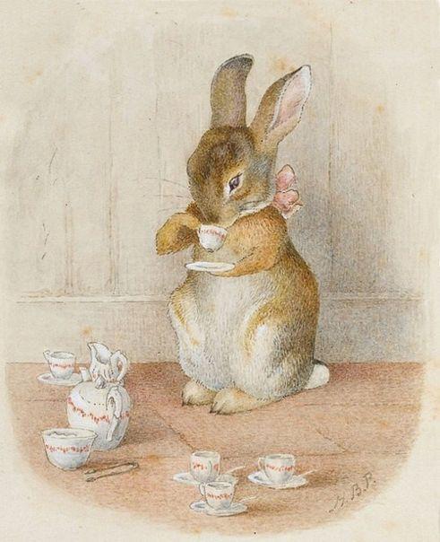 Mais c'est #TeaTime !  Illustration #BeatrixPotter  #JoyeusesPaques