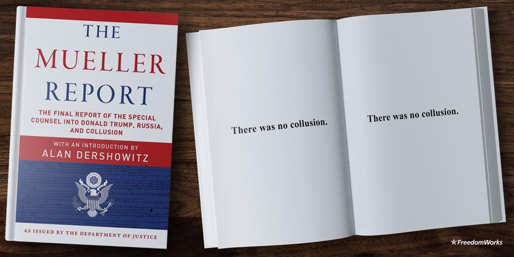 FreedomWorks's photo on #MuellerReport