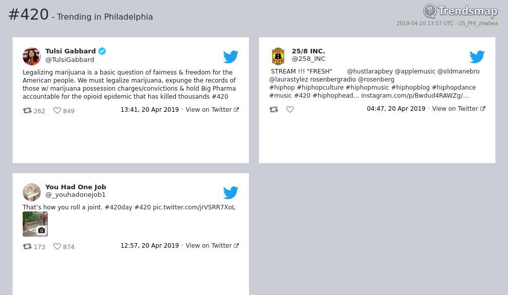 #420 is now trending in #Philadelphia  https://www.trendsmap.com/r/US_PHI_zhwbea