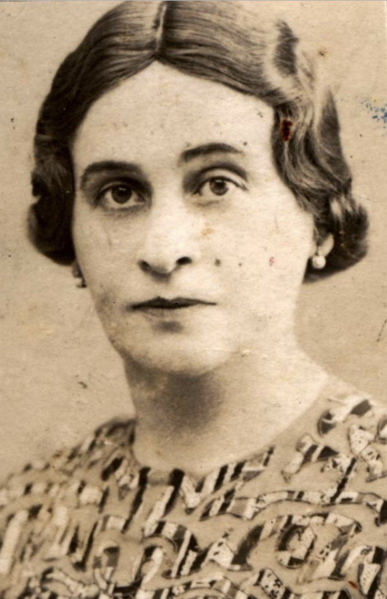 20 April 1900   Ester Mann (nee Haas) was born in Kosice. The Jewish woman during the war lived in Tornal'a. She perished in #Auschwitz on 13 June 1944. She was 44 years old. (Photo: @yadvashem)