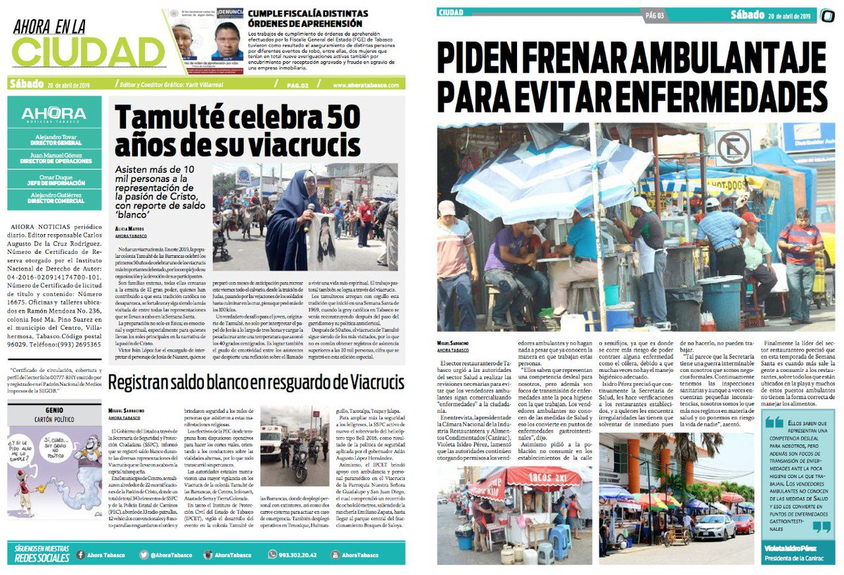🔴 PIDEN FRENAR AMBULANTAJE PARA EVITAR ENFERMEDADES. En la #Portada de #Ciudad.  Visita nuestro portal en http://ahoratabasco.com