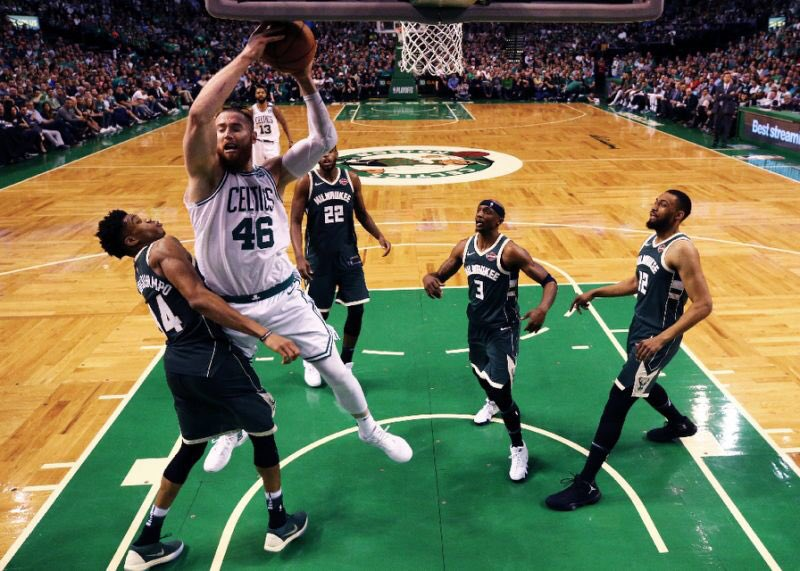 Baynes tied the playoff FG% record at 31.  Last year, he took 3 FGs, including 2 threes, and made them all against the Bucks (via @BaynesFanClub)