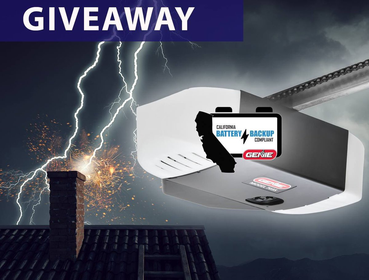 Head on over to our Facebook page to #enter into our latest #giveaway!  Your #chance to win a #Genie garage door opener with a #batterybackup -&gt;-&gt;  http:// bit.ly/2UOEZ0D  &nbsp;   &lt;-&lt;-<br>http://pic.twitter.com/v793NjezMr