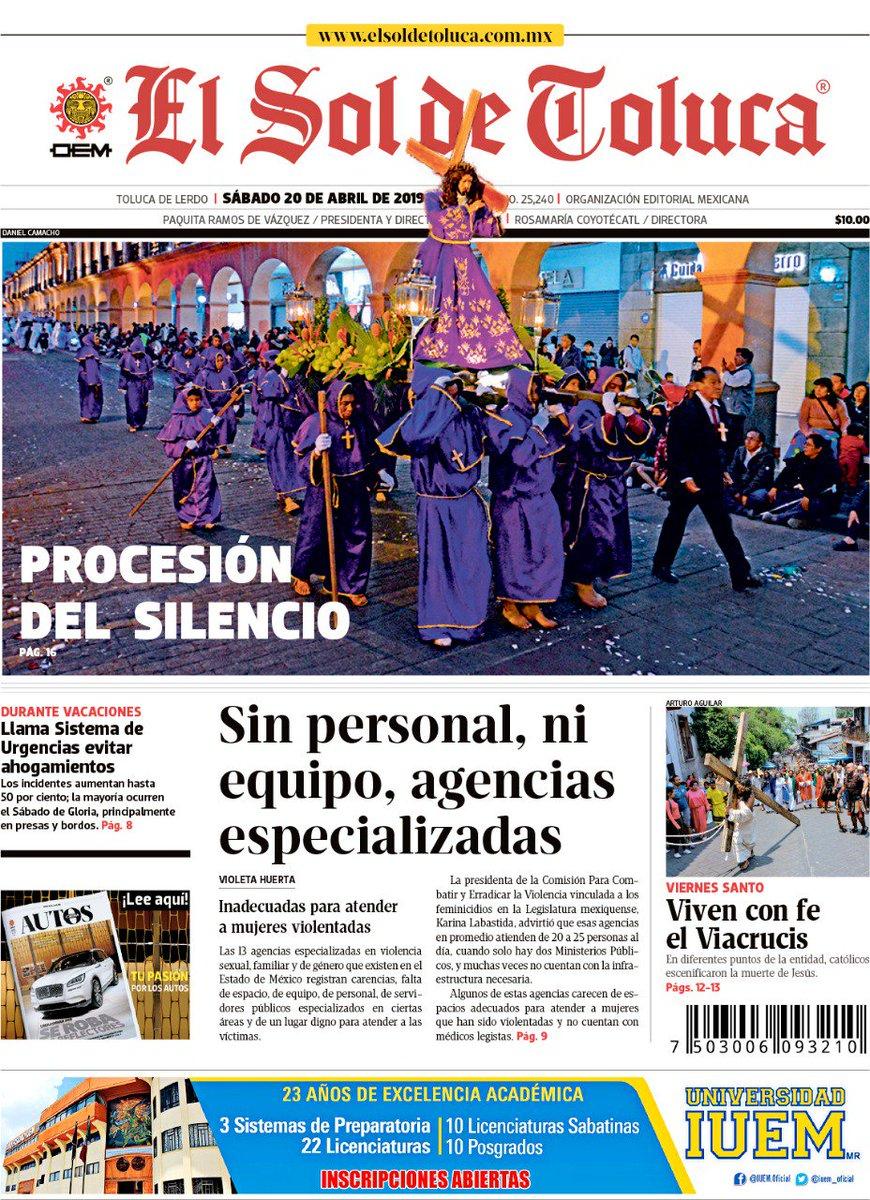 En #Portada #Pricipal 📰  Así fue la procesión del silencio en #Toluca   https://bit.ly/2IxeOVM