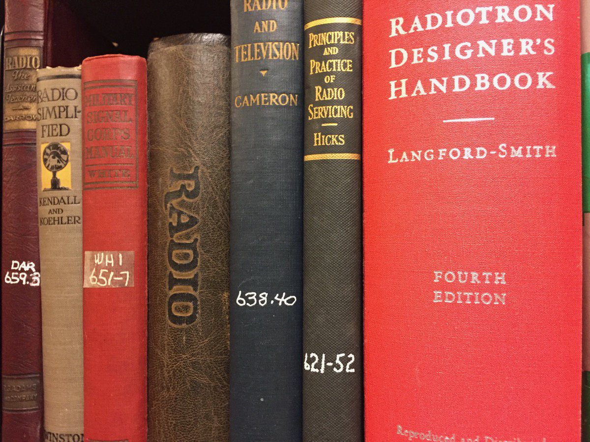 A few books from our library. #vintage #books #radio #communication #telephony #wireless #pavekmuseum #library #history #science #technology