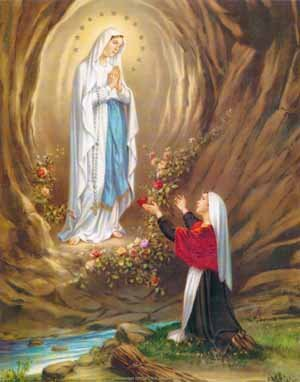 Our Lady of Lourdes, pray for us. #PrayTheRosary<br>http://pic.twitter.com/hfbHWRrLMS