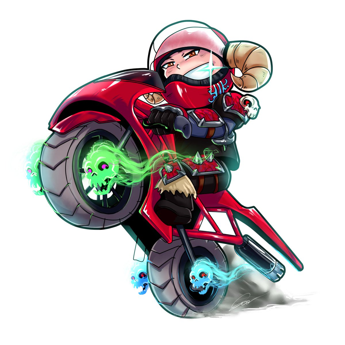 Top Supporter #Chibi gift for Dangero5 ( twitch - https://www.twitch.tv/dangero5  ) #wow #motorcycles #skulls #ghost #smile #art #gift