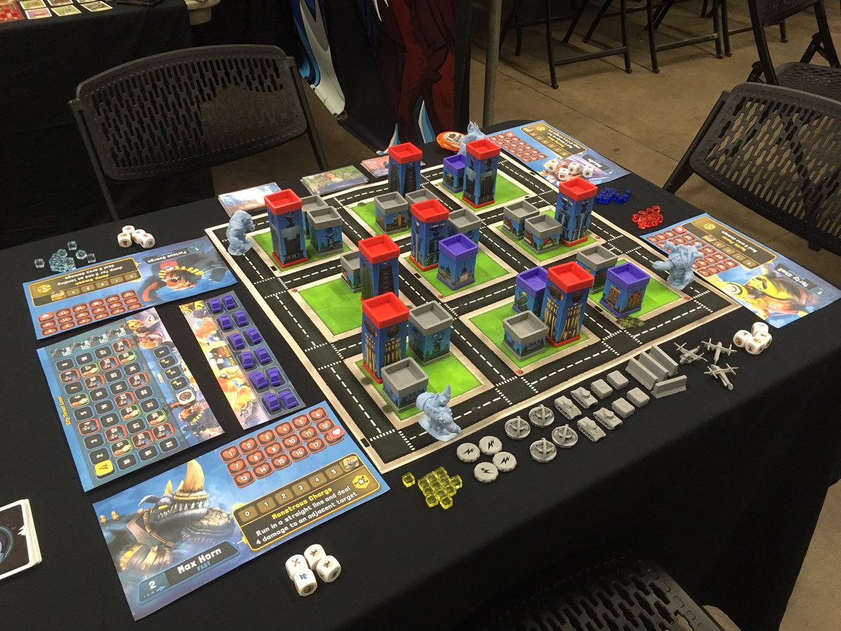 We're @Geequinox today and tomorrow with the prototype of #MonstroCity! Want to give it a try before it launches on #Kickstarter? Come play with us! #Halifax #NovaScotia #AlphaDogGames #boardgames #geequinox #ComingSoon @AlphaDogGames