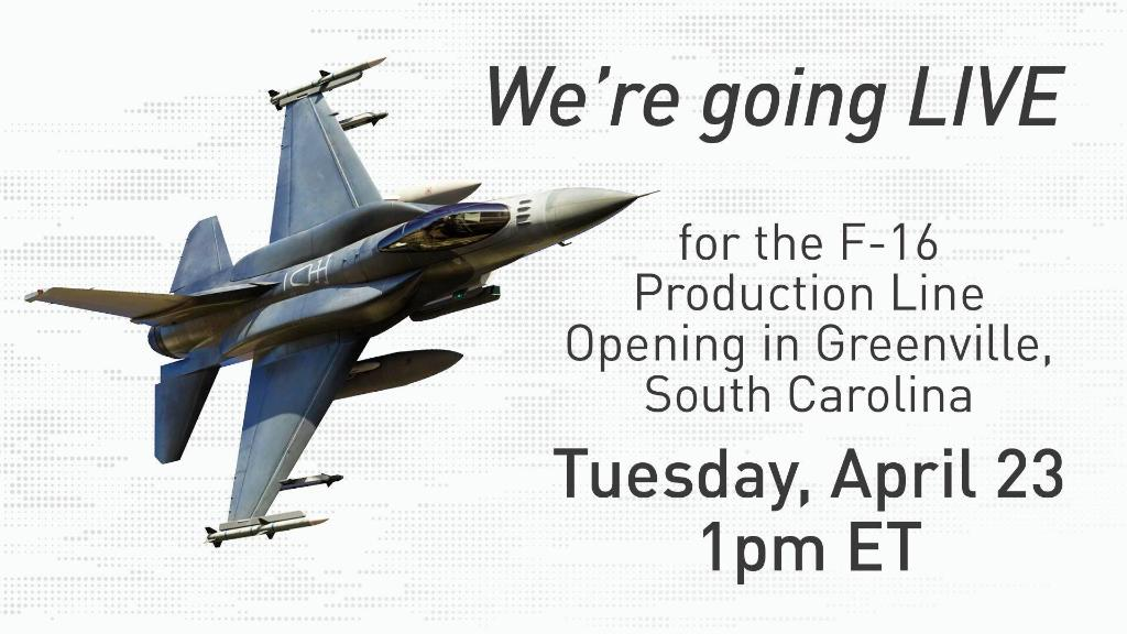 「Lockheed Martin launches production of F-16 fighter jets in Greenville」的圖片搜尋結果