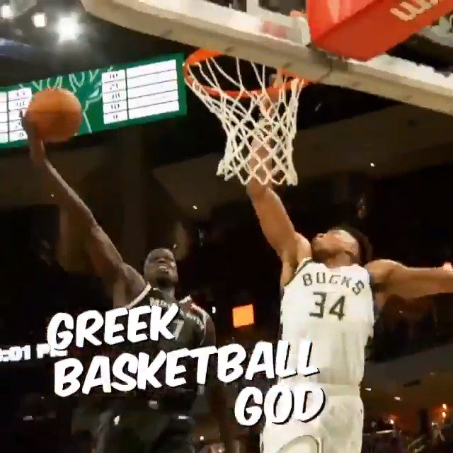 """""""THE GREEK BASKETBALL GOD""""   @Giannis_An34 x #NBAPlayoffs   ECF Game 5 TONIGHT on @NBAonTNT at 8:30pm/et in Milwaukee!"""