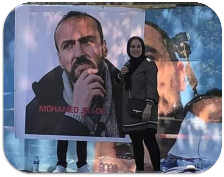 "Mohamed Jalloul spent 5 years in prison after demanding in 2012 the recognition of the history of the occupied #Rif by Morocco. after 40 days in ""freedom"" in 2017, he was kidnapped again and sentenced to 10 years. today his wife said, ""I am proud of my husband"" #Rifrepublic"