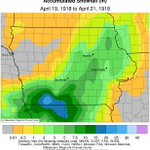 Image for the Tweet beginning: Iowa's all-time calendar day snowfall