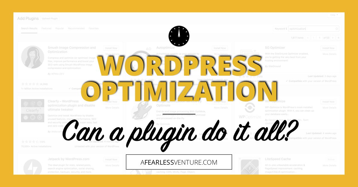 "mirkohumbert on Twitter: ""WordPress Optimization: It takes m"